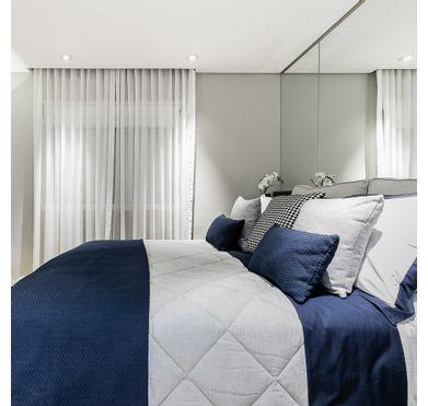 Porta Travesseiro Linho Modern Cinza
