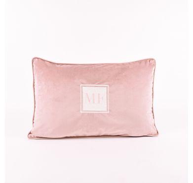 Almofada Veludo Rose Monograma Square